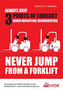 3 Points of Contact Forklift Safety Poster