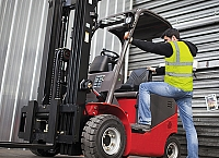 Three points of contact for forklift safety