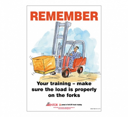 Fork Lift Safety Poster - Undercutting